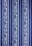 """Blue Cashmere"", French Border Stripe Fabric 55"""