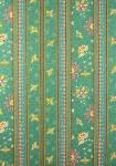"""Honeymoon"" green Border Stripe Fabric 55"""