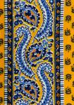 """Yellow Comet"", Provencal cotton fabric precut stripe 4,4"""