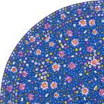 "Provencal Quilted Round Table Mat Blue ""Spring"""