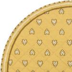 "Provencal Quilted Round Table Mats Beige ""Roussillon"""