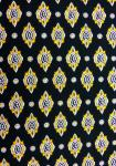 """Black/Gold Calissons"", 100% cotton country fabric 67"""