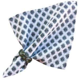"Provencal Cotton Napkin White ""Diamond"