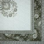 "Square Cotton Tablecloth Taupe pattern Haveli 63""x63"