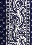 """Blue Comet"", Provencal cotton fabric precut stripe 4,4"""