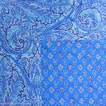 "Provencal Rectangle Cotton Tablecloth Blue ""Calissons"