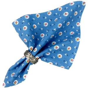 "Provencal Cotton Napkin Blue ""Flowers"