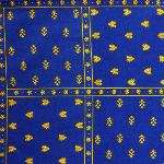 "Provencal Rectangle Cotton Tablecloth Blue ""Patchwork"" 59"" x 118"