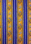 """Yellow/Blue"", Border Stripe Fabric 55"""