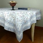 "Provencal Square Cotton Tablecloth White ""Country"