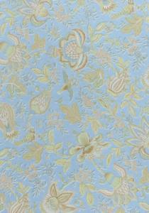 """Light Blue Colombes"", 100% cotton fabric Light Blue 69"