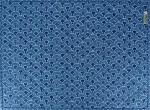 "French Quilted Cotton Blue Placemat ""Recif"" 14x18''"