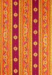 """Orange Volutes"", French Border Stripe Fabric 55"""