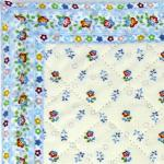 "Provencal Quilted Cotton Placemat White ""Little flowers"" 12x18"