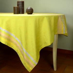"Rectangle French Jacquard Light Green Tablecloth ""Country"