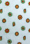 """White/Green Mistraou"", Traditional French country fabric"