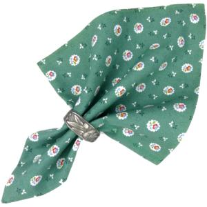 "Provencal Cotton Napkin Green ""Flowers"