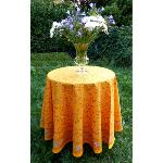 "Provencal Round Cotton Tablecloth yellow ""Country"