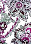 """White/Mauve Lys"", 100% mercerised printed cotton fabric"