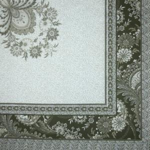 Square Cotton Tablecloth Taupe Haveli French Tablecloths