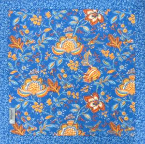 "Square French Table Mat Blue ""Colombes"" pattern"