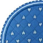 "Provencal Quilted Round Table Mats Blue ""Roussillon"""