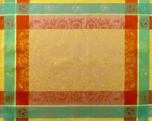 Yellow French Jacquard Placemat with Yellow Epis