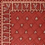 "Provencal quilted table runner Brick ""Roussillon"" 14x28 inch"