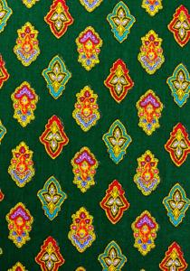 """Green Calissons"", 100% mercerized printed cotton fabric"