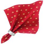 "Provencal Fabric Printed Napkin Red ""Lavandin"