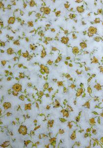 """White Country"", 100% mercerized printed cotton fabric"