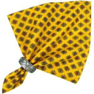 "French Cotton Napkin Yellow ""Diamond"" authentic Provencal design"