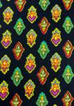 """Black Calissons"", 100% mercerized printed cotton fabric"