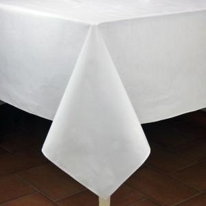 "Provencal Rectangle Cotton Tablecloth Plain White 59"" x 98.5"