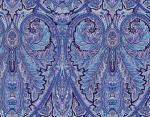 "Provencal reversible Placemat Blue ""Calissons"" 14x18''"