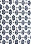 """White Calissons"", 100% Provencal cotton country fabric 67"""