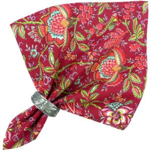 "Provencal Cotton Napkin Red ""Colombes"
