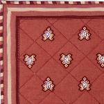 "Provencal Quilted Cotton Placemat Bric ""Roussillon"" 12x18"