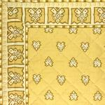"Provencal Beige quilted table runner ""Roussillon"" 16x35 inch"