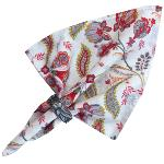 "Provencal Cotton Napkin Red ""Bastide"""