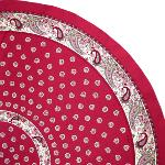 Pink Round Cotton Tablecloth Floral pattern 69