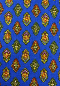 """Blue Calissons"", 100% mercerized printed cotton fabric"