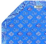 "Octogonal reversible placemat Blue ""Calissons"""