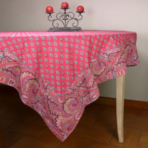 "Provencal Square Cotton Tablecloth Grenadine ""Calissons"