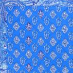 "Provencal Table Runner Blue ""Calissons"" 18x59"