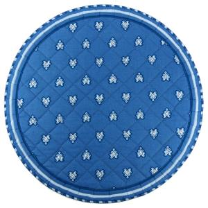 "Provencal Quilted Round Table Mats Blue ""Roussillon"