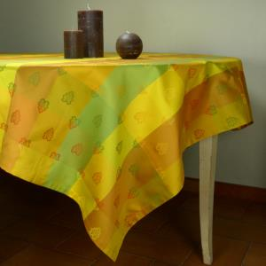 "Rectangle French Jacquard Yellow Tablecloth ""Roussillon"""