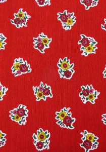 """Red Flowers"", 100% French country cotton fabric 55"