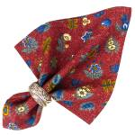 "Provencal Cotton Napkin Red ""Floral"