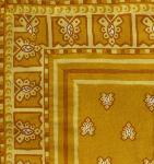 "Provencal Square Cotton Tablecloth Ocher ""Roussillon"" 67"" x 67"
